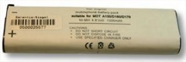 Akku f�r Motorola XTN446, 1.000 mAh, NiMH, star*point** -