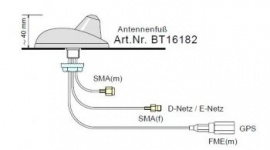 B&T Antennenfu� BT16182 -